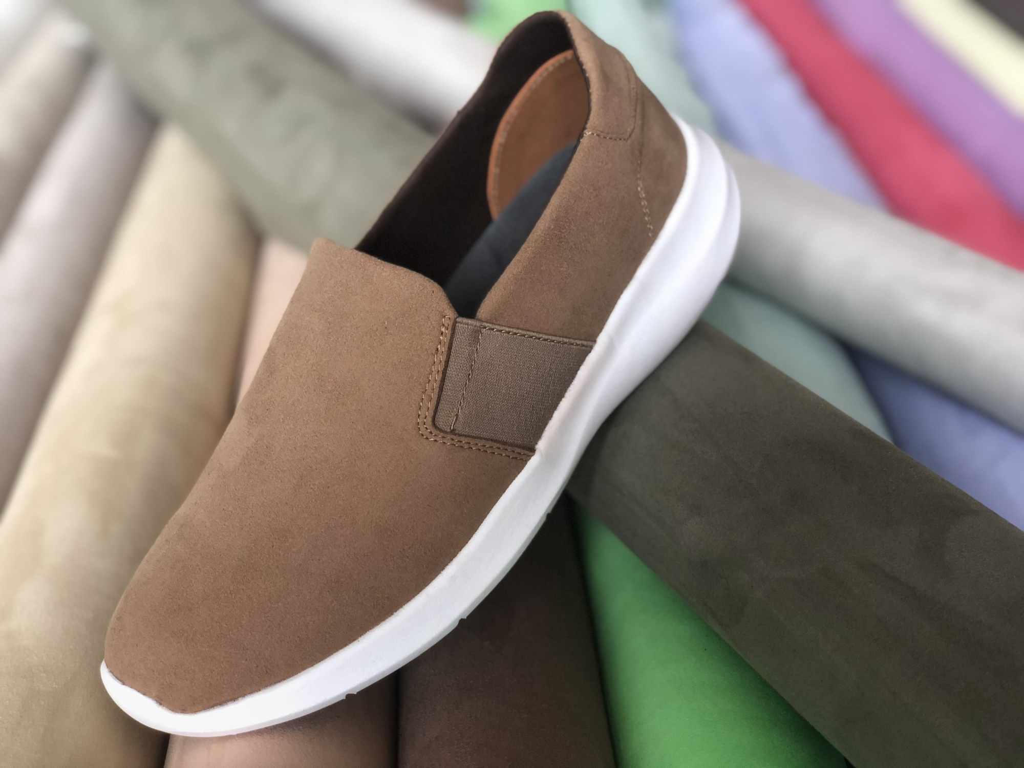 microfiber suede for shoe